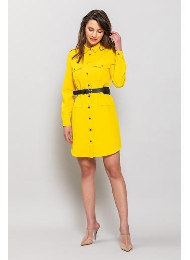 Ashleys Elbise Sarı